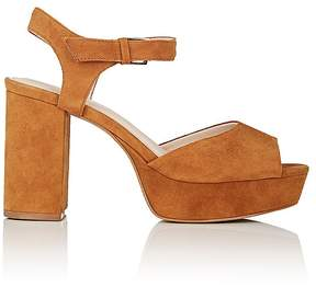 Barneys New York WOMEN'S PEGGY SUEDE PLATFORM SANDALS
