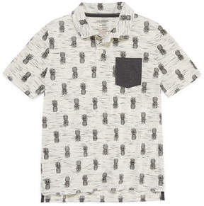 Arizona Short Sleeve Printed Polo Shirt -Boys 4-20