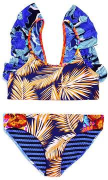 Maaji Girls' Seaside Palenque Reversible 2-Piece Swimsuit - Little Kid, Big Kid
