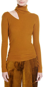 A.L.C. Kara Turtleneck Ribbed Sweater w/ Slit Detail