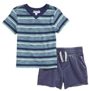 Splendid Stripe T-Shirt & Shorts Set
