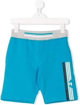 Emporio Armani Kids logo print track shorts