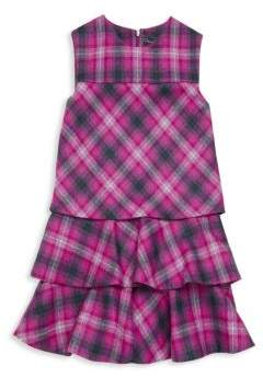 Oscar de la Renta Little Girl's Tiered Plaid Dress