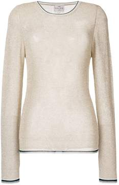 Forte Forte glitter effect knitted top