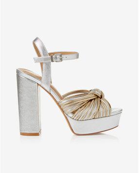 Express metallic platform heel