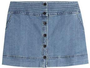 Vanessa Bruno Button Front Jean Skirt