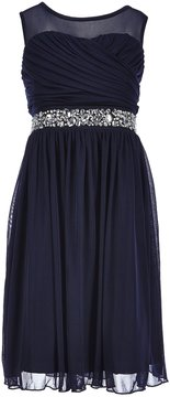 Xtraordinary Big Girls 7-16 Beaded Chiffon A-line Dress