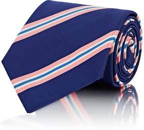 Ralph Lauren Purple Label Men's Diagonal-Striped Silk-Blend Faille Necktie