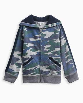 Splendid Little Boy Camo Hoodie Navy