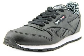 Reebok Classic Leather Animal Round Toe Leather Sneakers.