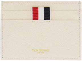 Thom Browne White Colorblock Single Card Holder