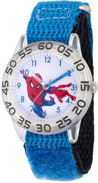 Marvel Spiderman Boys Blue Strap Watch-Wma000175
