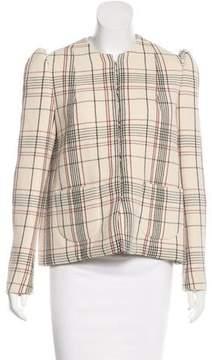 DELPOZO Plaid Wool Jacket