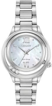 Citizen Women's EM0510-53D L Sunrise Stainless Steel Watch, 33mm