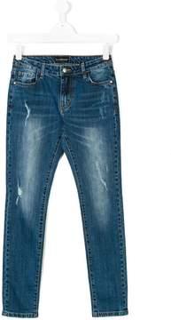 John Richmond Kids distressed slim fit jeans