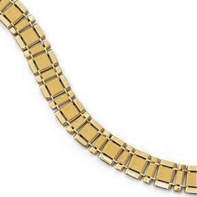 Ice 14k Polished and Brushed Men's Link Bracelet