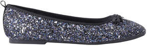 Joe Fresh Kid Girls' Glitter Flats, Navy (Size 1)
