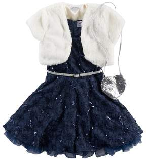 Knitworks Girls 4-6x Sequin Lace Dress