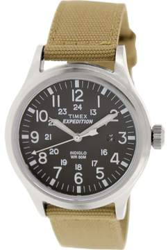 Timex Corporation Expedition Scout Metal Watch Khaki T49962