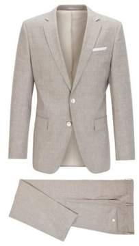 BOSS Hugo Wool Linen Suit, Slim Fit Hutson/Gander 36R Beige