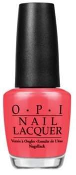 OPI Nail Lacquer Nail Polish, Red Lights Ahead... Where?.