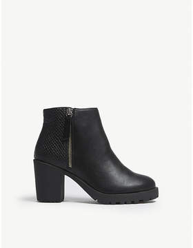 Office Abstract embossed ankle boots