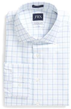 John W. Nordstrom Men's Trim Fit Windowpane Dress Shirt