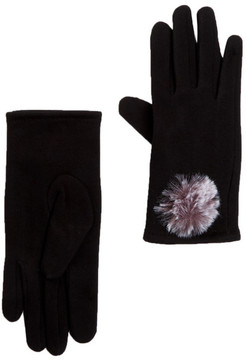 Joe Fresh Faux Fur Pom Pom Accent Gloves