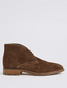 Marks and Spencer Big & Tall Suede Lace-up Chukka Boots