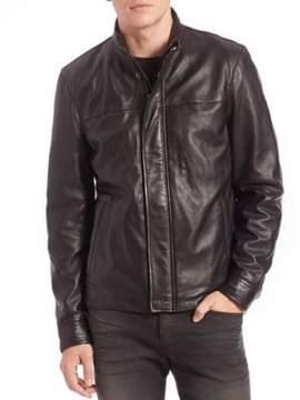 Saks Fifth Avenue MODERN Leather Jacket