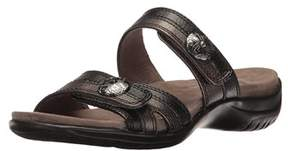 Easy Street Shoes Womens Ashby Open Toe Casual Slide Sandals.