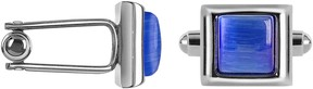 Forzieri Cat's eye - Blue Silver Plated Cuff links