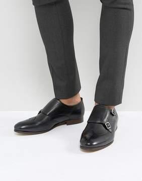 H By Hudson Castleton Leather Monk Shoes