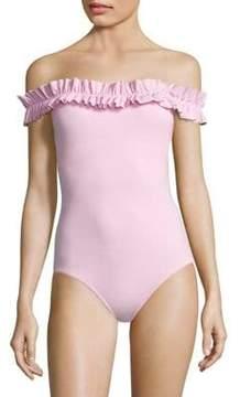 Karla Colletto Swim Mondria Off the Shoulder Maillot