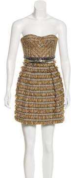 Matthew Williamson Strapless Textured Dress