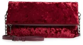 Sole Society Velvet Foldover Clutch - Red