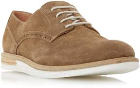 Dune London BOXPARK - TAN Two Tone Wedge Lace Up Gibson Shoe