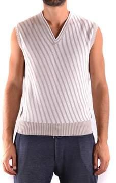 Armani Collezioni Men's Beige Cotton Vest.