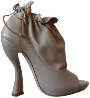 Nina Ricci Leather open toe boots