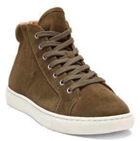 Ralph Lauren Dree Suede High-Top Sneaker Loden 10.5
