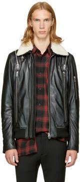 Diesel Black Leather L-Feeder Jacket