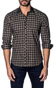 Jared Lang Slim Fit Buffalo Check Sport Shirt