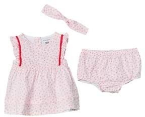 Absorba Girls' 3pc Dress, Bloomer, & Headband Set.