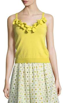 Moschino Bow-Trim Knit Tank