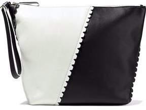 Diane von Furstenberg Origami Two-Tone Leather Clutch