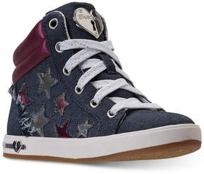 Skechers Little Girls' Shoutouts - Fashion Stars High Top Sneakers from Finish Line
