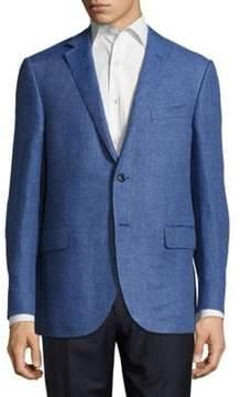 Corneliani Woven Notch-Lapel Jacket