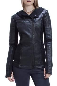 Blanc Noir Asymmetric Moto Jacket