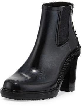 Hunter Original Refined Rubber Chelsea Boot, Black