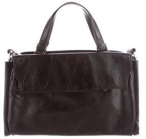 Halston Heritage Glazed Leather Satchel